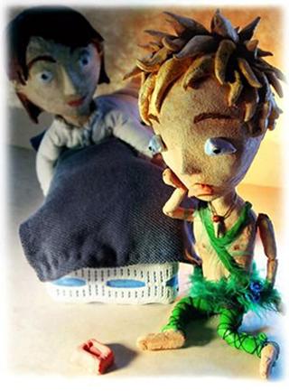 Peter shadow - blog. Neil Hughes Puppet Illustration.