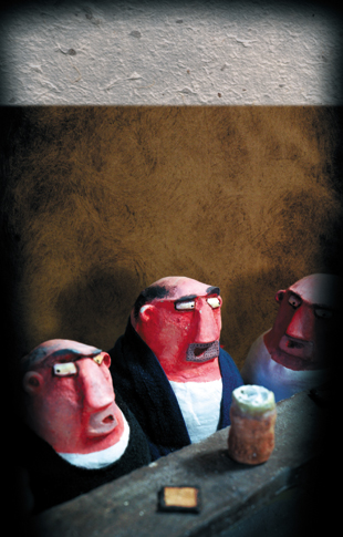 Pub - How to be local - zine page 16 - blog. Neil Hughes Puppet Illustration.