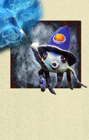 magic- squid - zine page 10 - blog. Neil Hughes Puppet Illustration.