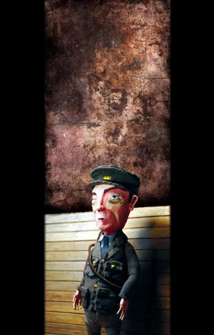 soldier - zine page 11 - blog. Neil Hughes Puppet Illustration.