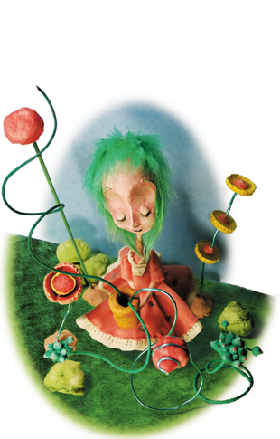 nurture nature - charlotte - zine page 15 - blog. Neil Hughes Puppet Illustration.