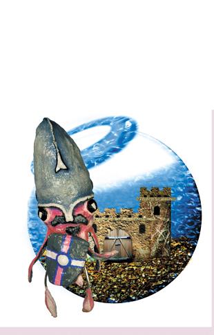 knight- squid - zine page 4 - blog. Neil Hughes Puppet Illustration.