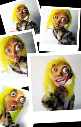 polaroid - zine page 5 - blog. Neil Hughes Puppet Illustration.