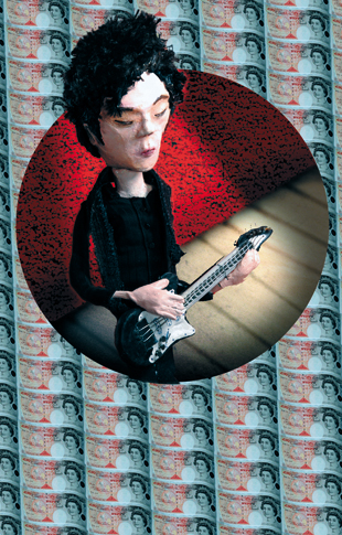 guitar yeah yeah yeahs nick - zine page 6 - blog. Neil Hughes Puppet Illustration.