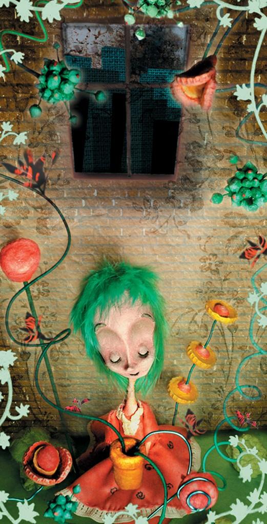 charlotte portrait - portfolio. Neil Hughes Puppet Illustration.