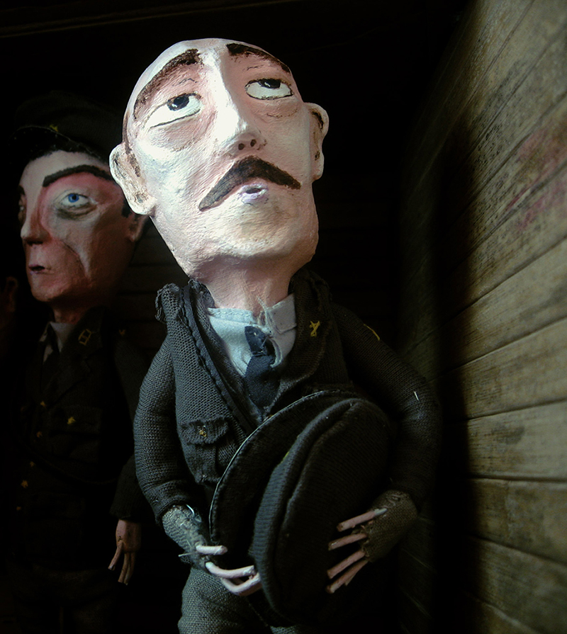 Journeys end - Portfolio. Neil Hughes Puppet Illustration.