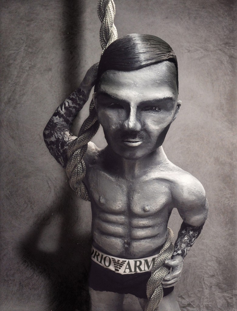 Male Icon - David Beckham - Portfolio. Neil Hughes Puppet Illustration.