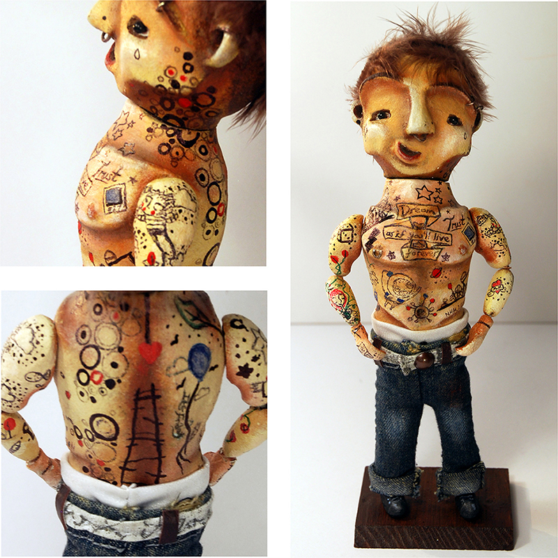 Wayne - portfolio. Neil Hughes Puppet Illustration.