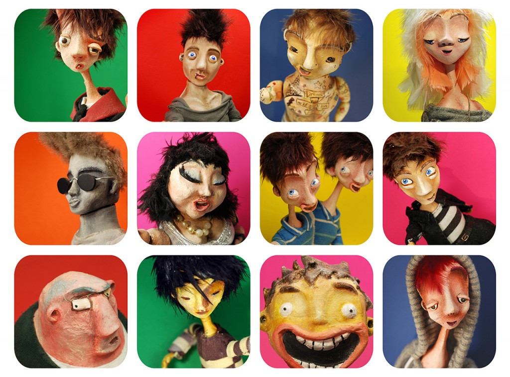 selfie poster - Portfolio. Neil Hughes Puppet Illustration.