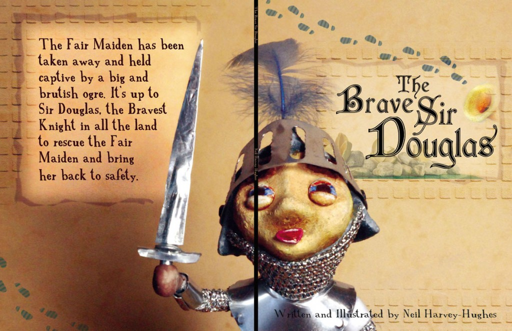 brave sir Douglas - cover - blog. Neil Hughes Puppet Illustration.