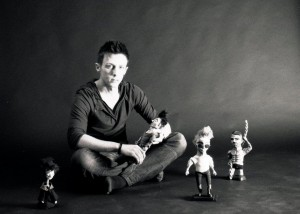 me photoshoot 3 - blog. Neil Hughes Puppet Illustration.