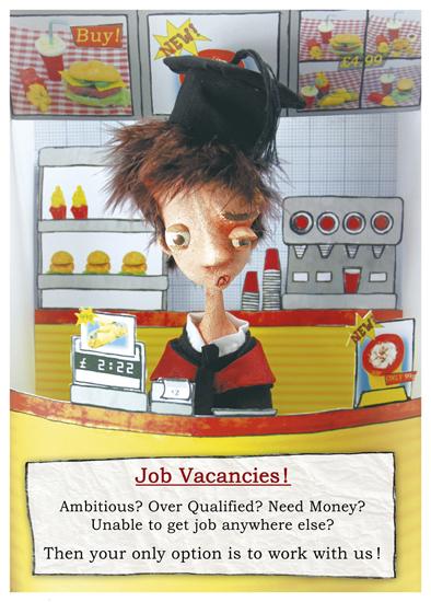 Job Vacancies - blog. Neil Hughes Puppet Illustration.