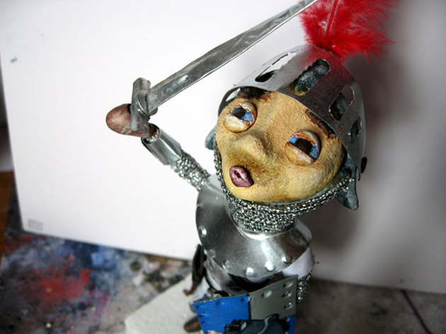 knight - blog. Neil Hughes Puppet Illustration.