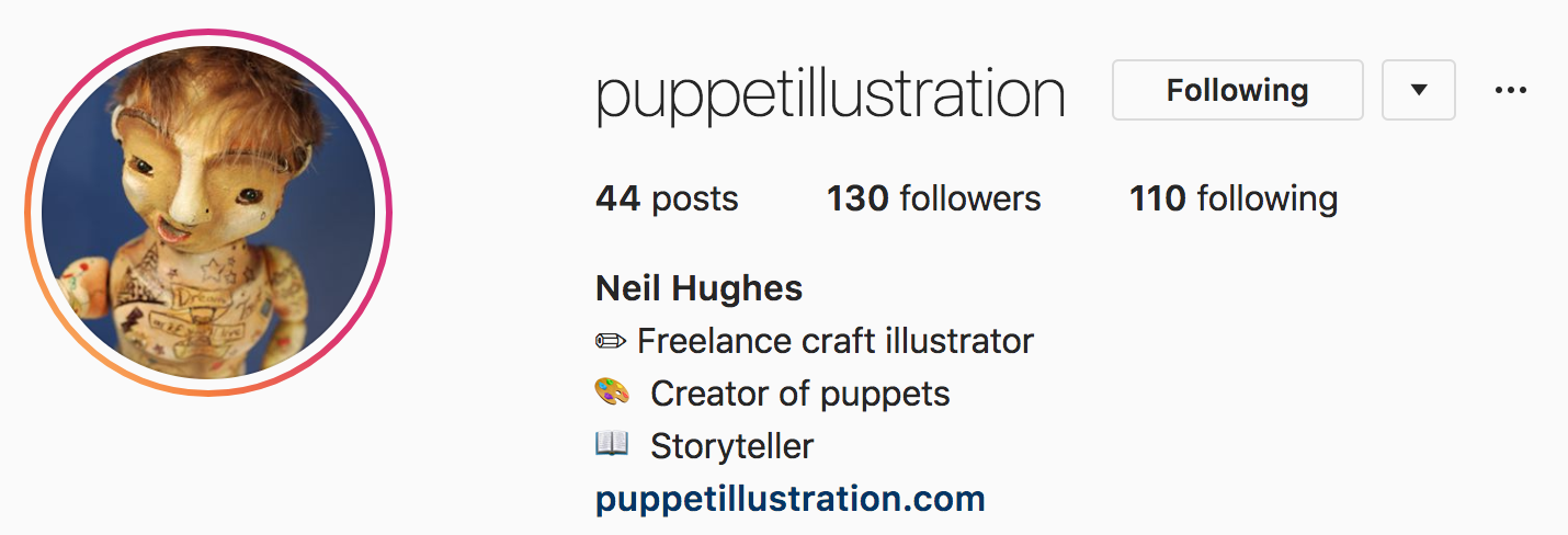 Instagram Profile | Puppet Illustration