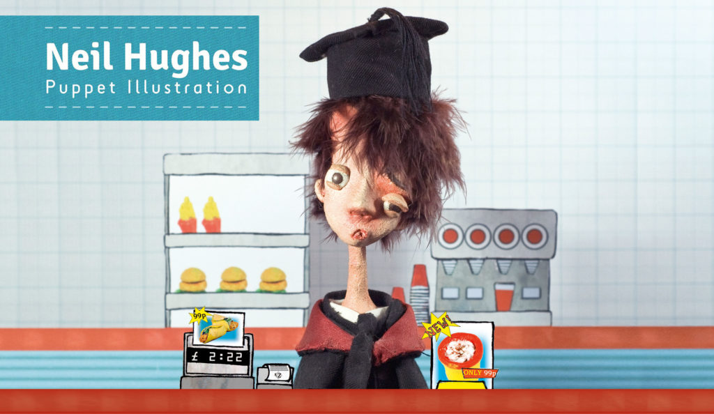 About The Artist | Neil Hughes Puppet Illustration | Creative CV